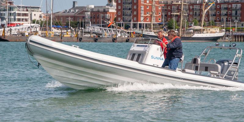 Sunna Ballistic 7.8m RIB Boat Club Trafalgar