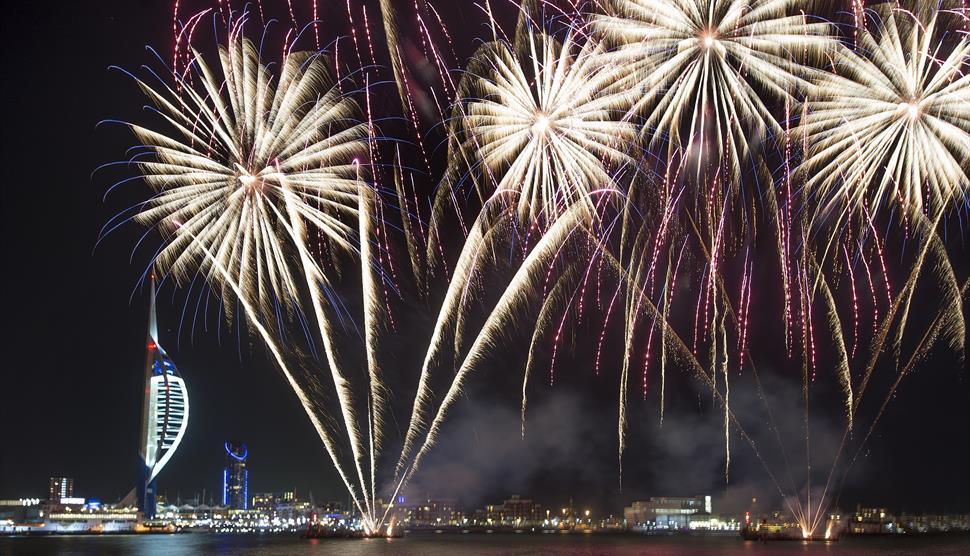Gunwharf Quays Light Shows and Fireworks