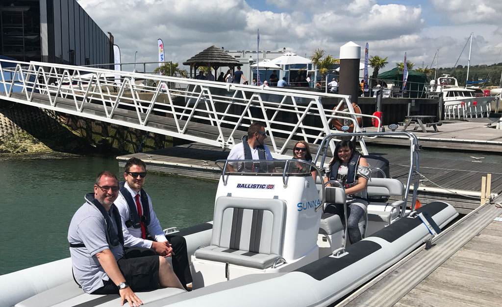 Network day in Portsmouth Harbour with Boat Club Trafalgar